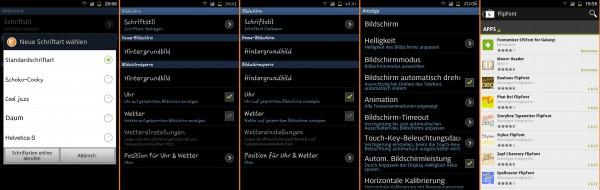 Samsung Galaxy Note Schriftarten