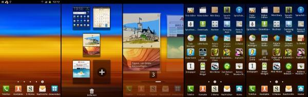 Samsung Galaxy TouchWiz Homescreen