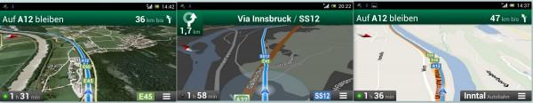 Google Navi, Gmaps, Ansichten - smartcamnews.eu