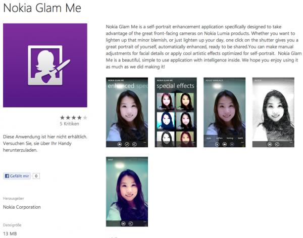 Glam Me - Nokia - Fotofilter - Portraitbilder - smartcamnews.eu