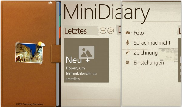 Mini Notizen - MiniDiary - Samsung Ativ S - smartcamnews.eu