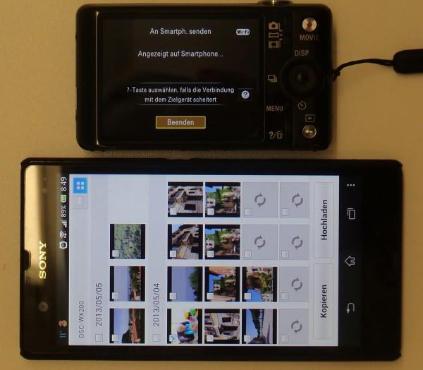 Sony WX 200 - Bilder am Smartphone anzeigen - smartcamnews.eu