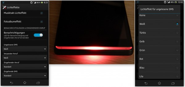 Sony Xperia SP - LED Licht - smartcamnews.eu