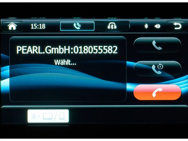 Aktiver Anruf - NavGear StreetMate Navi-DSR-N-62