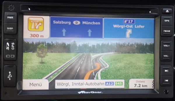 Ansicht Navigation - Autobahnabfahrt - NavGear StreetMate Navi-DSR-N-62