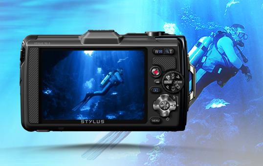 Olympus TG-2 - Unterwasser-Bedienung - Touch Modus