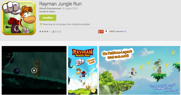 Sony Xperia Z Tablet - Rayman Jungle Jump