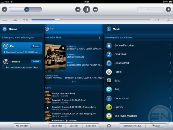 iOS App auf dem iPad