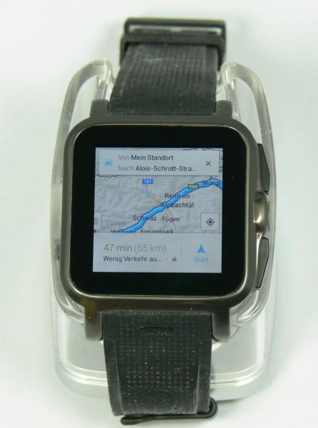 Routenansicht - Smartwatch AW414go - smartcamnews.eu