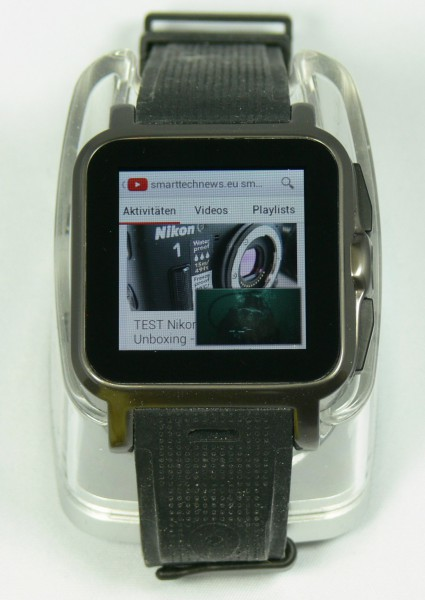 Youtube Videostream - Smartwatch AW414go - smartcamnews.eu