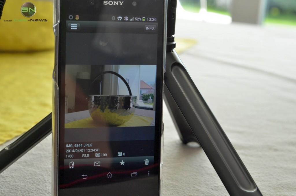 Canon EOS 70D- Infodisplay am Smartphone - smartcamnews.eu