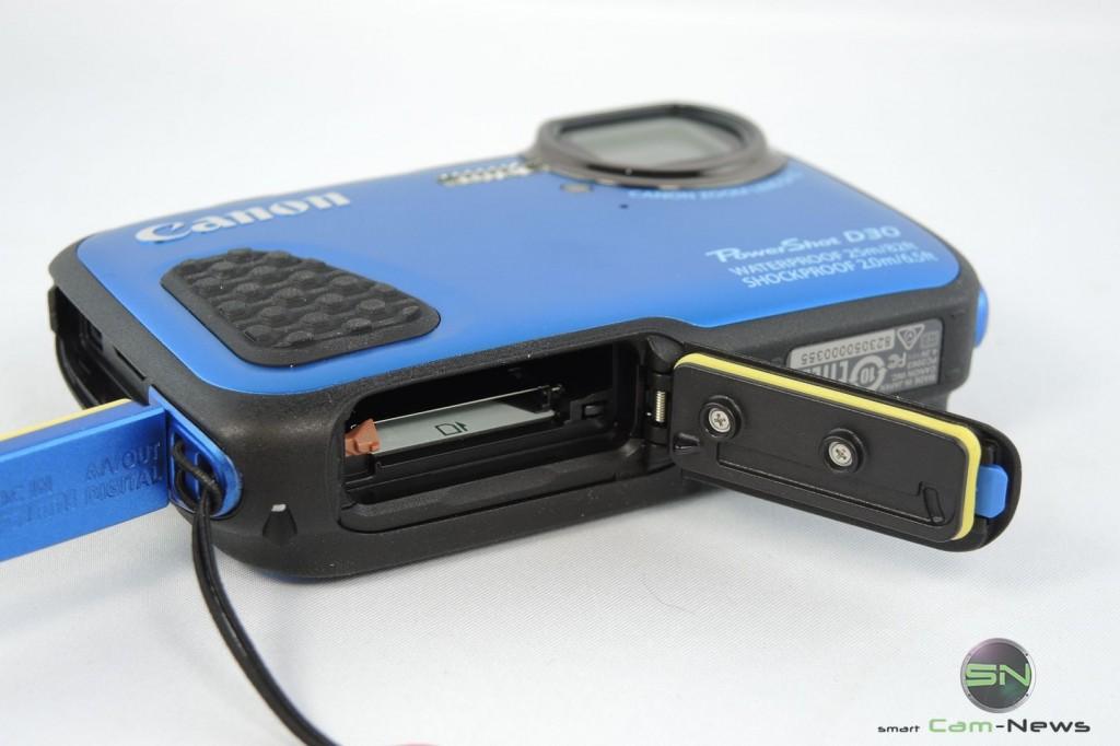 Akku & SD Schacht - Canon D30 - SmartCamNews