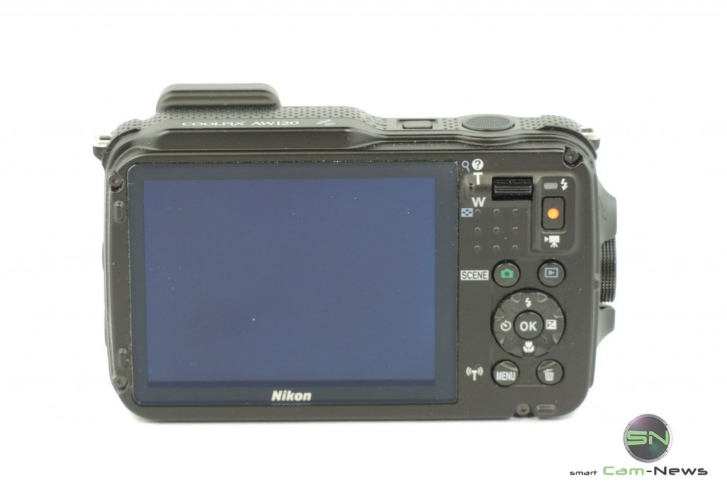 Display Rückseite - Nikon AW120 - SmarCamNews