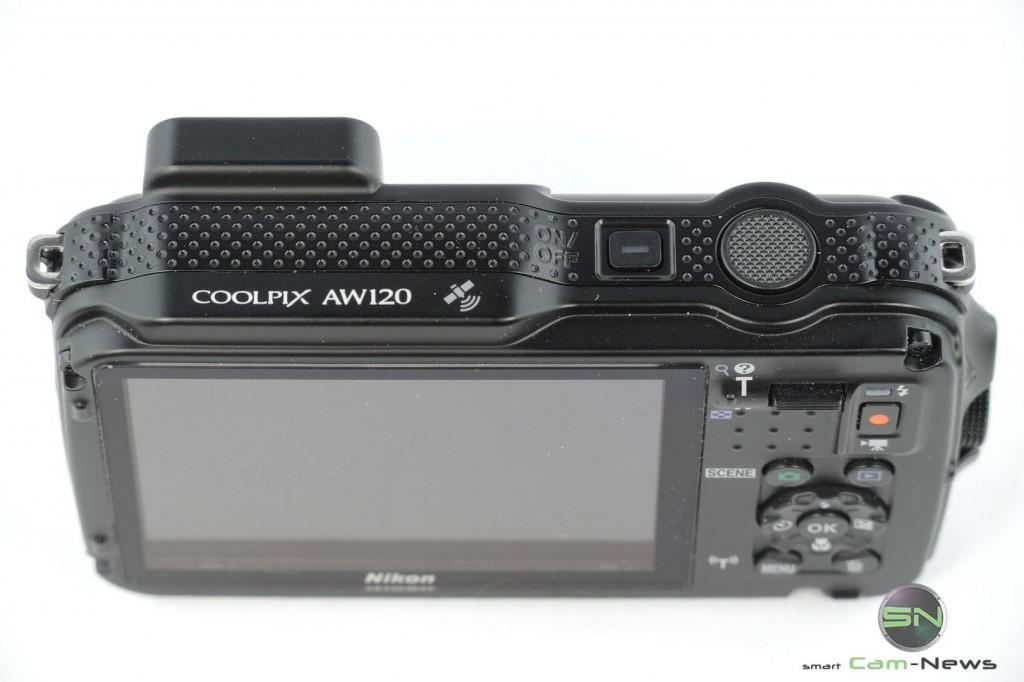 Power und Auslösetaste - Nikon AW120 - SmartCamNews