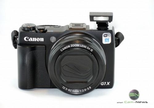 Front Ansicht mit Blitz - Canon G1x mark II - SmartCamNews