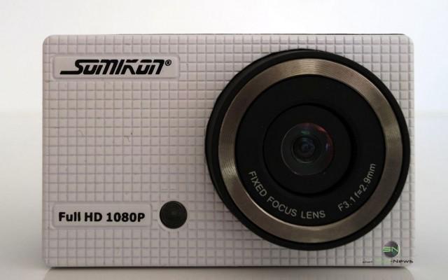 Frontansicht Cam - Somikon DV800Wifi - SmartCamNews