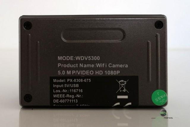 Rückseite - Somikon DV800Wifi - SmartCamNews