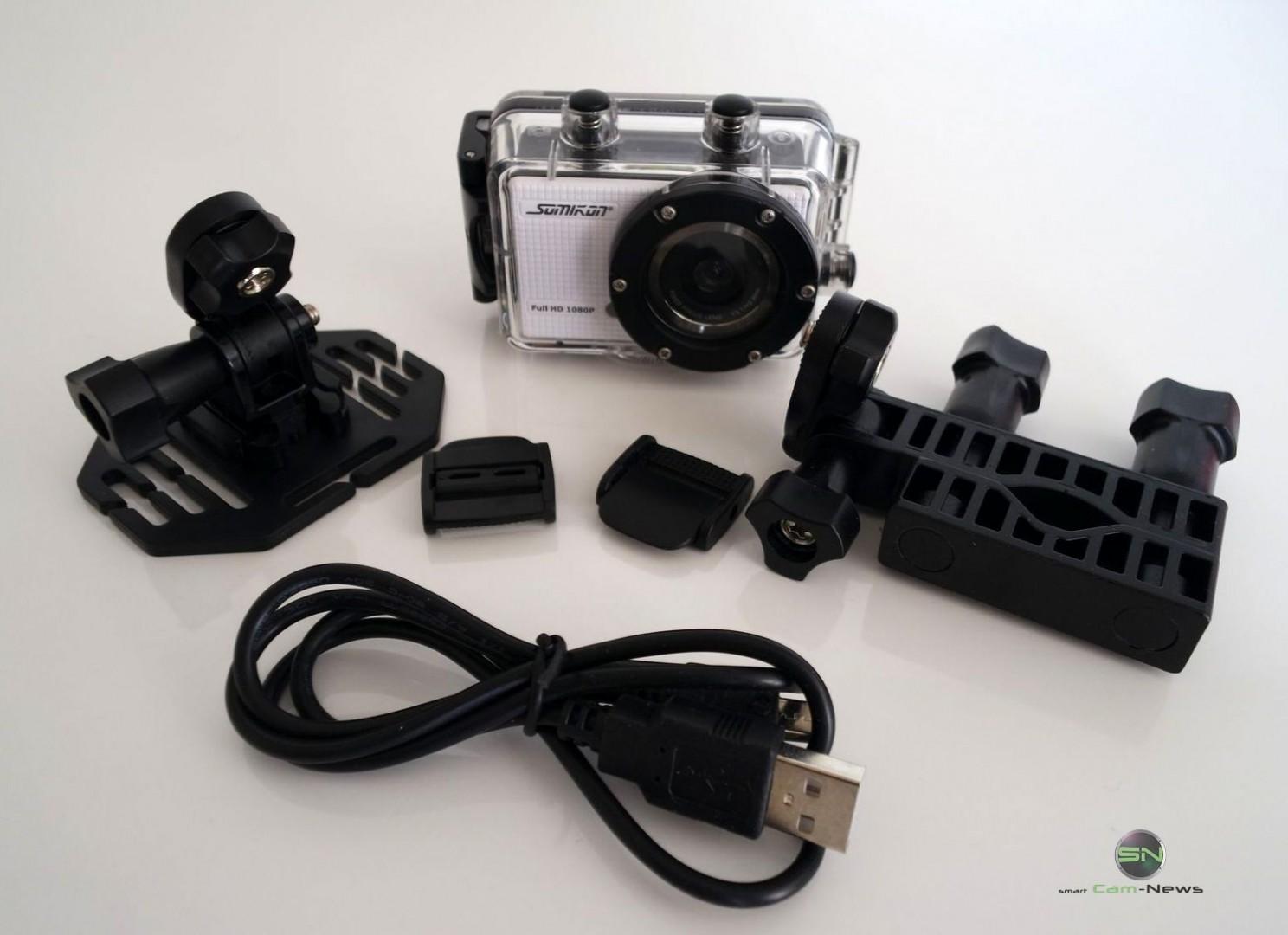 Lieferumfang - Somikon DV800Wifi - SmartCamNews