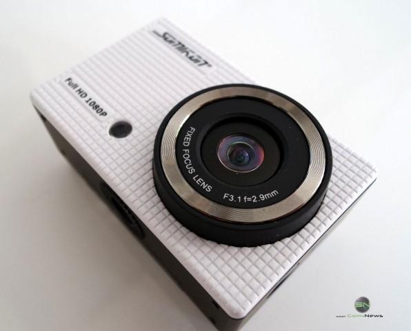 Frontansicht - Somikon DV800Wifi - SmartCamNews