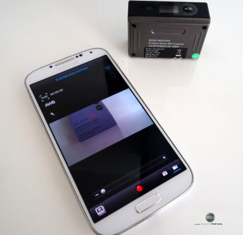 Verbindung mit dem Smartphone - Somikon DV800Wifi - SmartCamNews