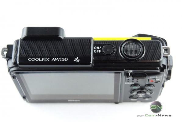 Bedienelemente oben Nikon AW130 - SmartCamNews