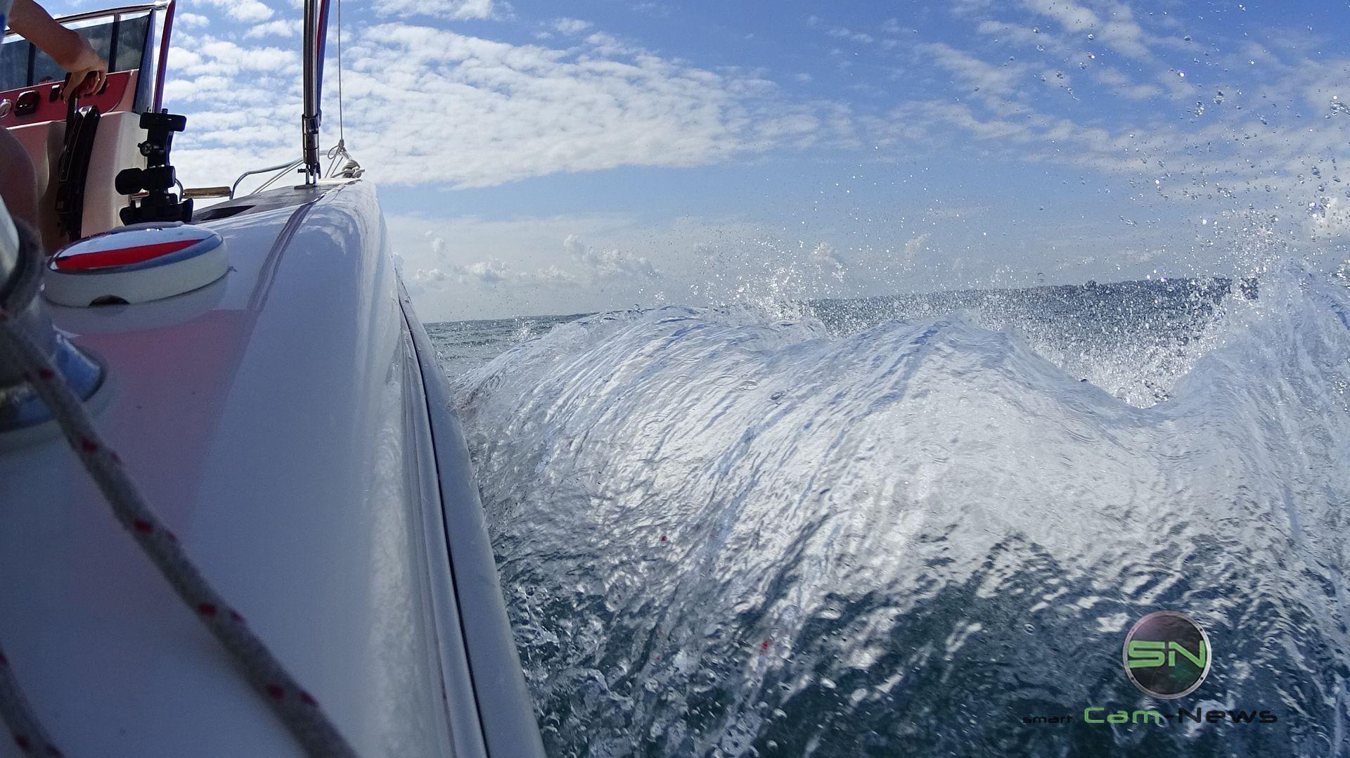 mit Speed über den Gardasee - Sony 4K ActionCam X1000V - SmartCamNews