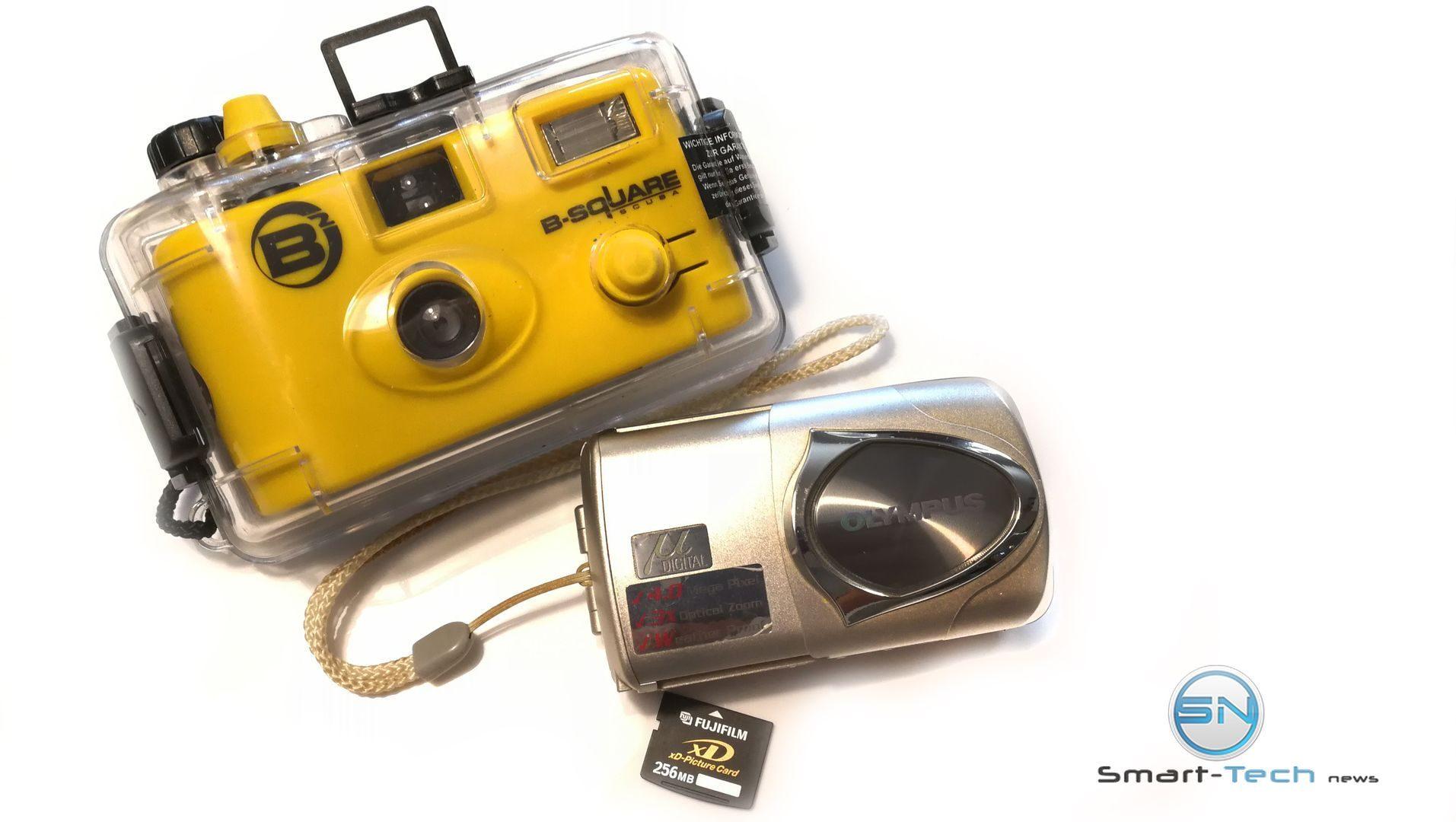 Einweg Film und Olympus mju 410 mit TG Tracker unter Wasser - SmartTechNews