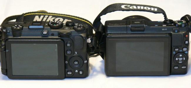 Display Ansicht der Canon G1xmarkII vs Nikon P7700 - SmartCamNews