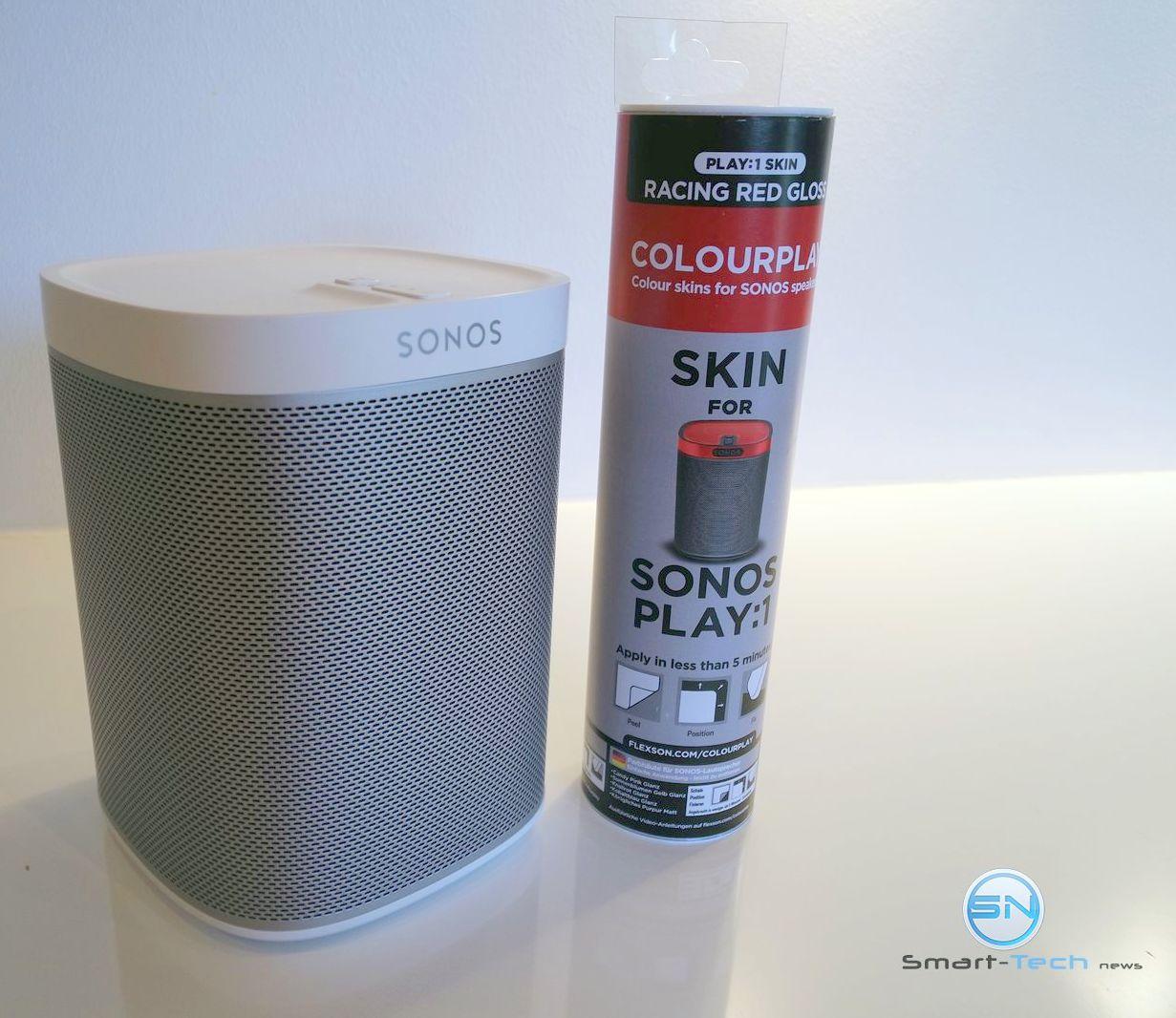 Die Sonos Play 1 mit Skin verschönert