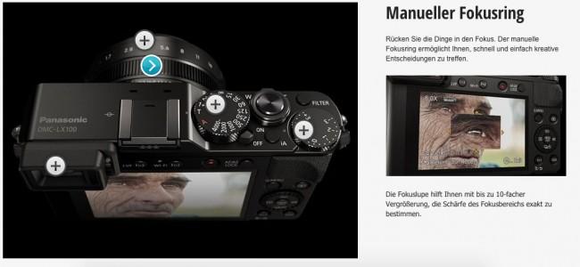 Panasonic LX 100 - Manueller Fokus Ring
