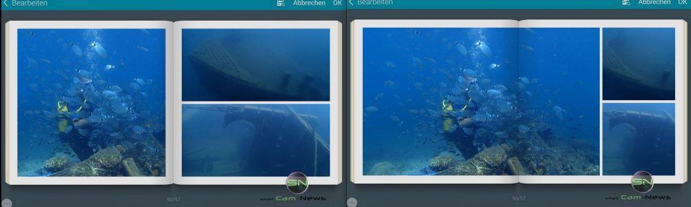 Ansichtsmöglichkeiten - Story Foto Album - Collage Samsung