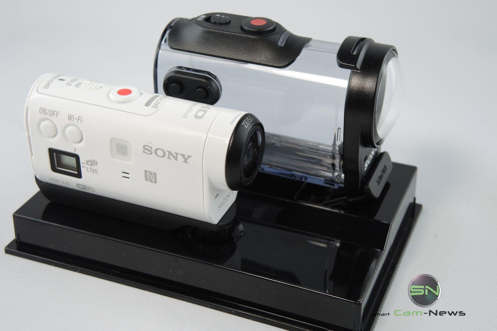 Cam mit Gehäuse - Sony HDR AZ1 - SmartCamNews