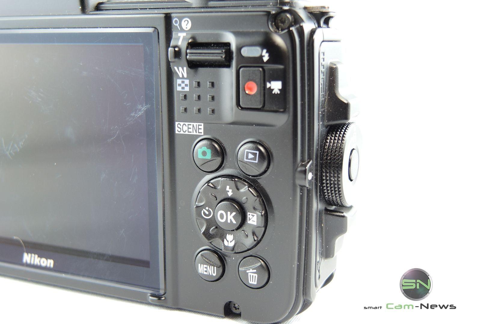 Bedienelemente Rückseite Nikon AW130 - SmartCamNews