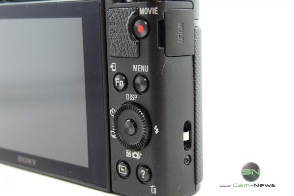 Sony typische Funktionstastenanordnung.- Sony HX90V - SmartCamNewsJPG