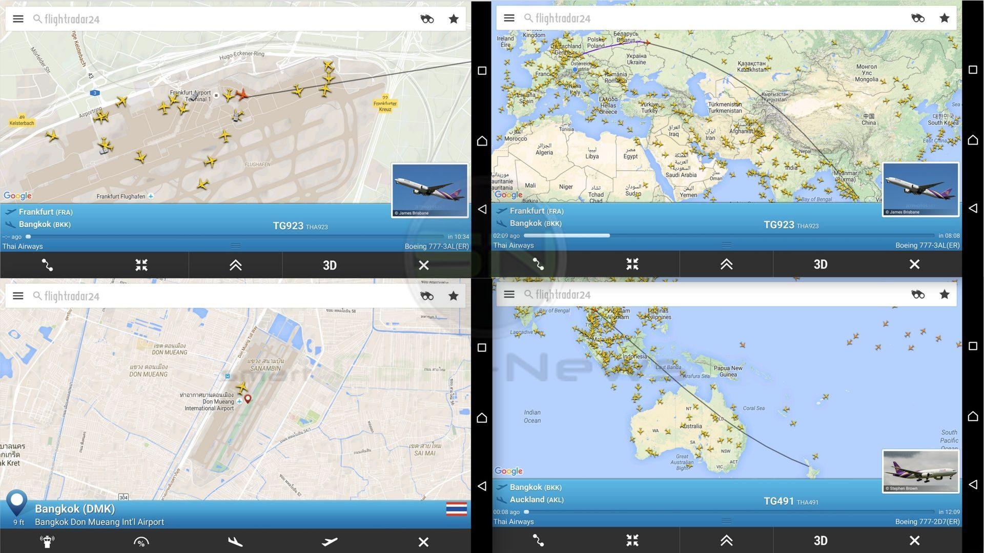Flug Frankfurt - Bangkok - Auckland Neuseeland - SmartCamNews