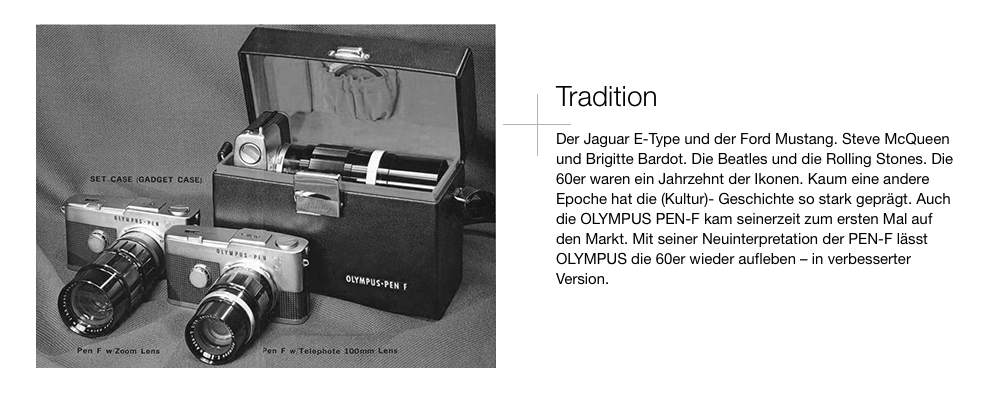 Olympus PEN-F - Tradition